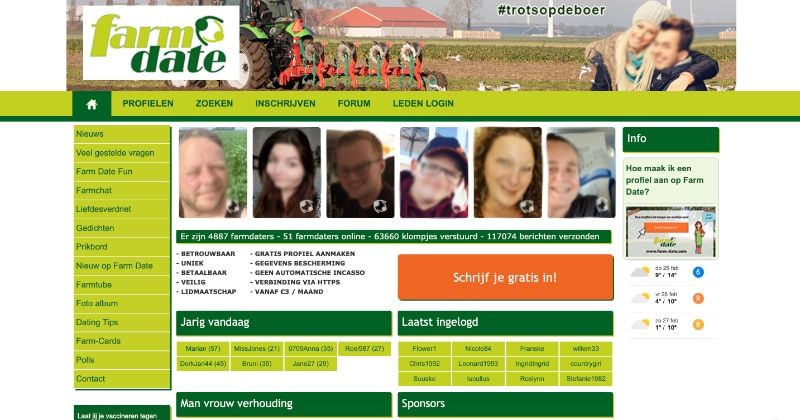 Farmdate website
